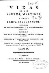 Vidas de los padres, martires, y otros principales santos ...