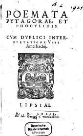 Poemata Pytagorae, et Phocylidis