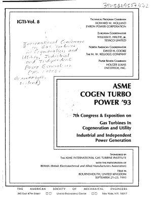 ASME COGEN TURBO Power