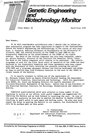 Genetic Engineering and Biotechnology Monitor PDF