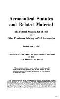 Aeronautical Statutes and Related Materials PDF