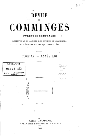 Revue de Comminges: Volume 15