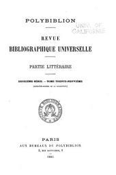 Polybiblion: Revue bibliographique universelle, Volume70