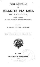 Bulletin des lois de la République franc̜aise: Partie1