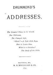 Drummond's Addresses