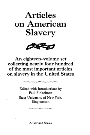 Law, the Constitution and Slavery