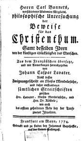 Philosophische Untersuchung der Beweise für das Christenthum