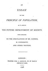 Parallel Chapters from the First and Second Editions of An Essay on the Principle of Population