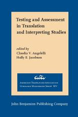 Testing and Assessment in Translation and Interpreting Studies PDF