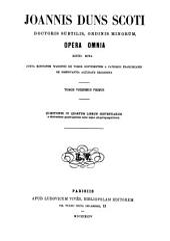 Joannis Duns Scoti Opera omnia: Volume 21