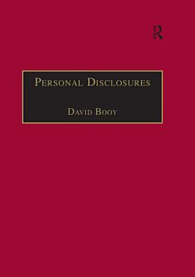 Personal Disclosures