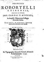 Oratio in funere imp. Caroli V. Augusti