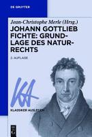 Johann Gottlieb Fichte  Grundlage des Naturrechts PDF