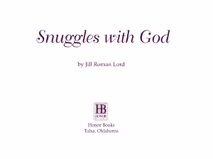 Snuggles with God