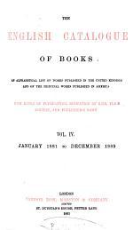 The English Catalogue of Books: v. [1]. 1835-1863