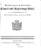 Grossherzoglich-Badisches Staats- und Regierungs-Blatt: Band 20