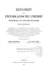 Zeitschrift für physikalische Chemie: Band 7