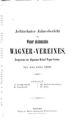 Jahres Bericht des Wiener akademischen Wagner Vereines f  r das Jahr     PDF