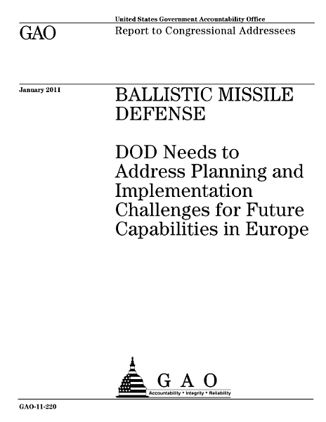 Ballistic Missle Defense