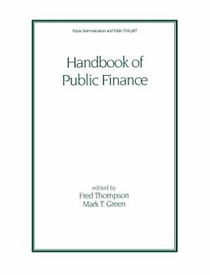Handbook of Public Finance PDF