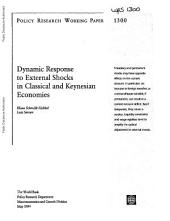 External Shocks in Classical and Keynesian Economies