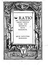 Ratio seu Compendium verae theologiae