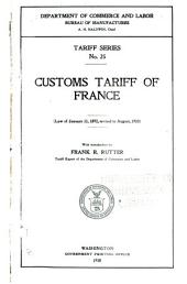 Tariff Series: Issues 17-26