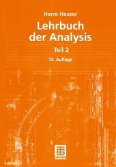 Lehrbuch der Analysis: Teil 2, Ausgabe 13