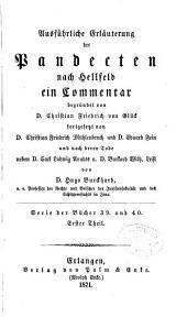 Ausfuhrliche Erläuterung der Pandecten nach Hellfeld: Band 55
