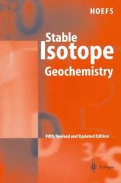Stable Isotope Geochemistry: Edition 5