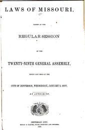 Laws of Missouri