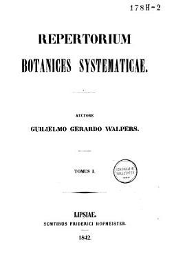 Repertorium botanices systematicae PDF