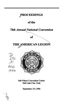 Proceedings of     National Convention of the American Legion PDF