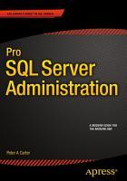 Pro SQL Server Administration PDF
