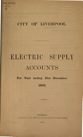 Electric Supply Accounts for Year Ending 31st December ...