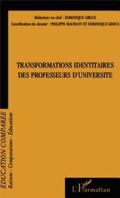 Transformations identitaires des professeurs d'université
