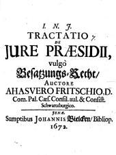 Tractatio de iure praesidii, vulgo Besatzungs-Recht