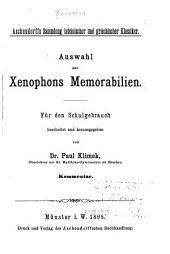 Auswahl aus Xenophons Memorabilien: Kommentar