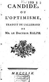 Candide, ou L'optimisme,: Partie1