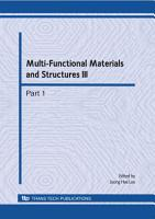 Multi Functional Materials and Structures III PDF