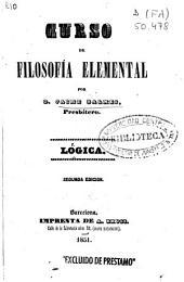 Curso de filosofía elemental: Lógica