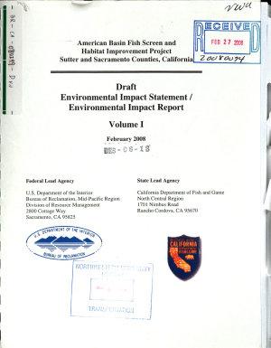 American Basin Fish Screen and Habitat Replacement Project PDF
