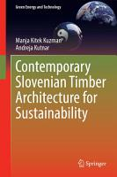Contemporary Slovenian Timber Architecture for Sustainability PDF