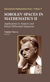 Sobolev Spaces in Mathematics II: Applications in Analysis and Partial Differential Equations, Volume 2
