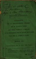 Auktionskatalog  B  cher von Ludwig Tieck  10  Dezember 1849 PDF