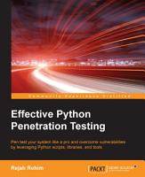 Effective Python Penetration Testing PDF