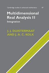 Multidimensional Real Analysis II: Integration