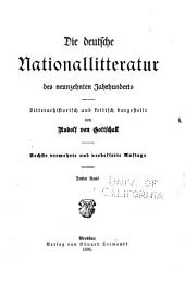 Die deutsche Nationalliteratur des neunzehnten Jahrhunderts, literararhistorisch und kritisch dargestellt: Band 3