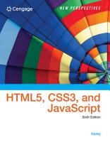 New Perspectives on HTML5  CSS3  and JavaScript PDF