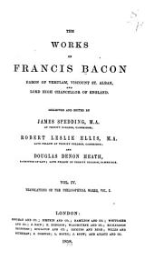 The Works of Francis Bacon: Translations of the philosophical works